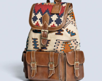 Pars Kilim Leather Backpack