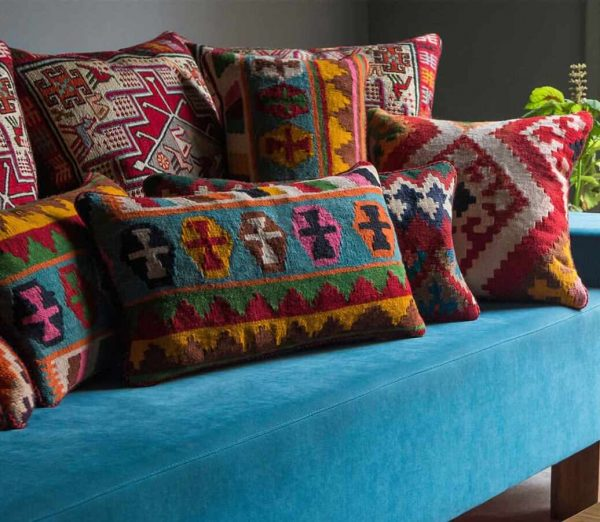 Interior Design With Cushion Kilim