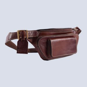 Handmade Genuine Leather Brown pocket Pouch