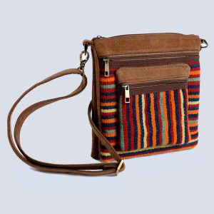 Handwoven Kilim Suede Brown Crossbody Bag