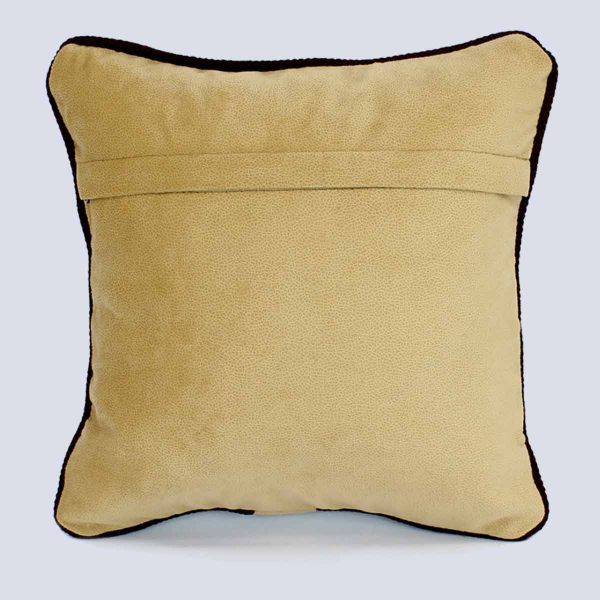 Handwoven Fabric Bisque Square Cushion Back