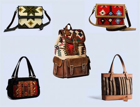 Handwoven Kilim Leather Bags