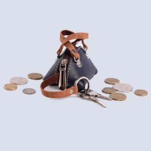 Leather Wallet Coin Key Bag